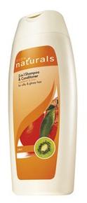Naturals Mandarin és kivi 2 az 1-ben sampon és balzsam a selymes és ragyogó hajért 400 ml