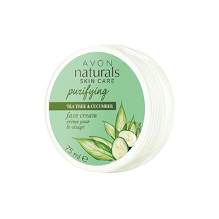 Naturals Teafa és uborka hidratáló arckrém 75 ml