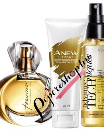 AvonKifinomult szett TTA Tomorrow parfüm-Anew ultimate maszk-hajspray