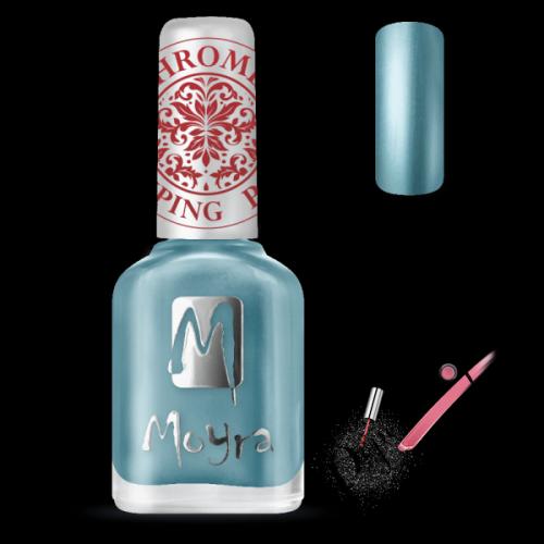 Moyra Nails Nyomdalakk SP 26 Chrome Blue 12 ml - pipereshop.hu