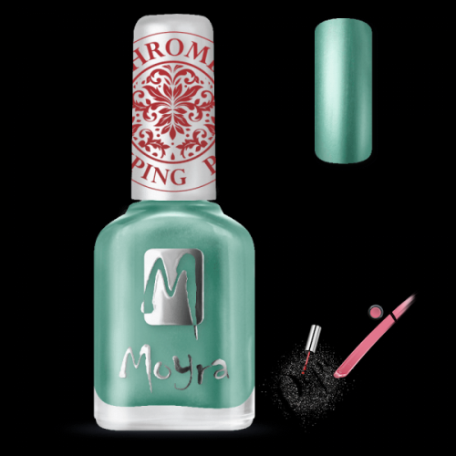 Moyra Nails Nyomdalakk SP 27 Chrome Green 12 ml - pipereshop.hu