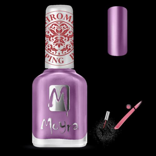 Moyra Nails Nyomdalakk SP 28 Chrome Purple 12 ml - pipereshop.hu