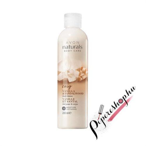 Avon Naturals Vanília és szantálfa testápoló 200 ml