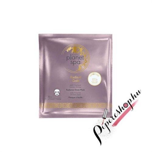 Avon Planet Spa Radiant Gold ragyogást kölcsönző fátyolmaszk